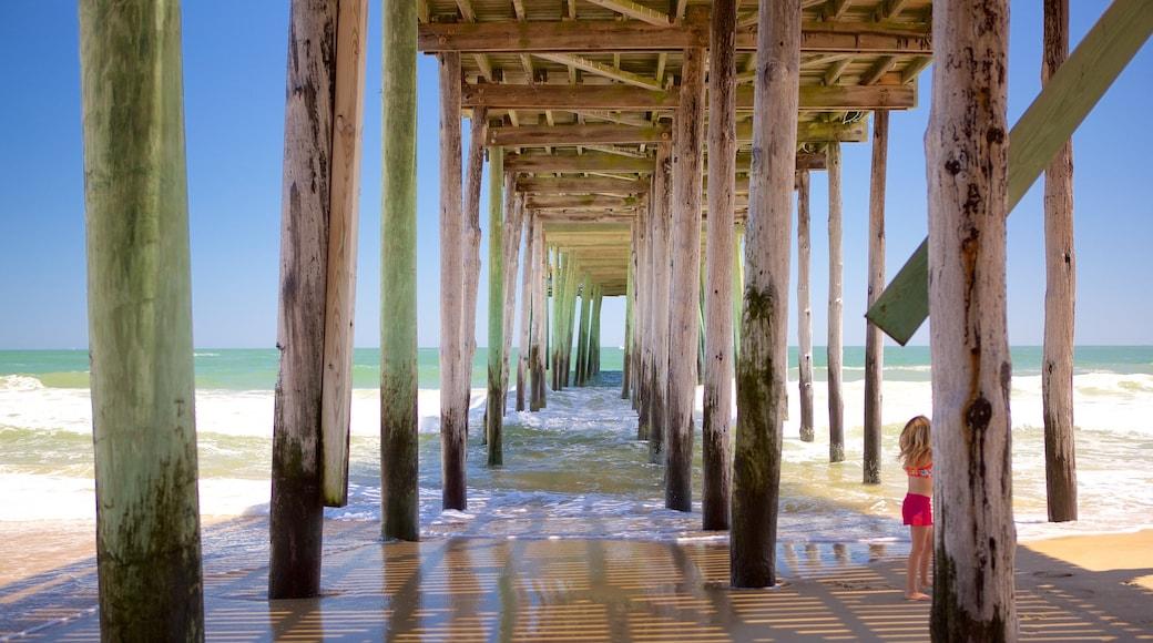 Ocean City Beach showing a sandy beach and general coastal views as well as an individual child