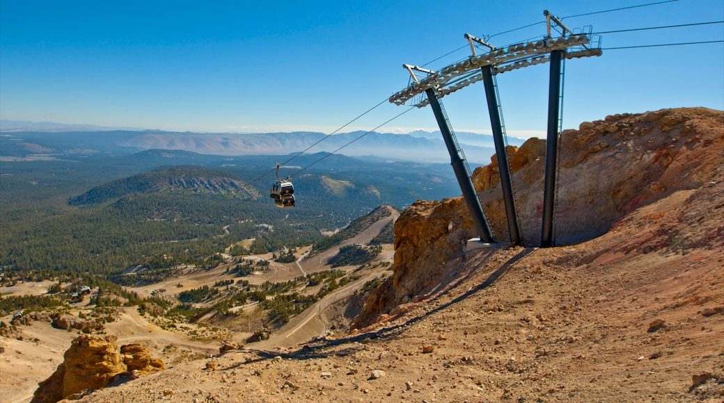 Mammoth Mountain Ski Resort featuring landscape views, a gondola and mountains