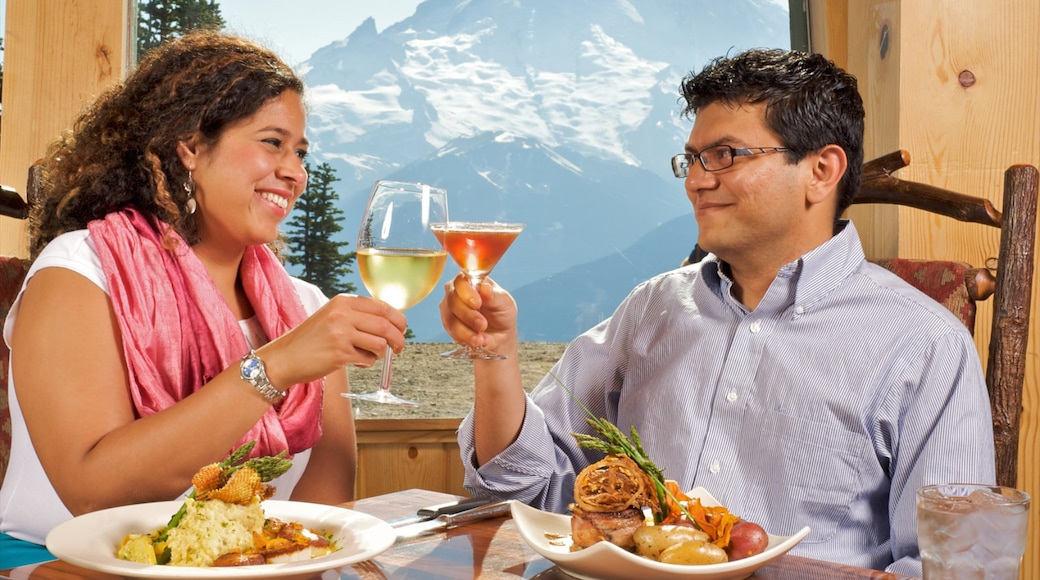 Crystal Mountain Ski Area featuring food, dining out and drinks or beverages