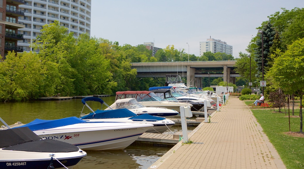 Oakville which includes a park, a river or creek and boating