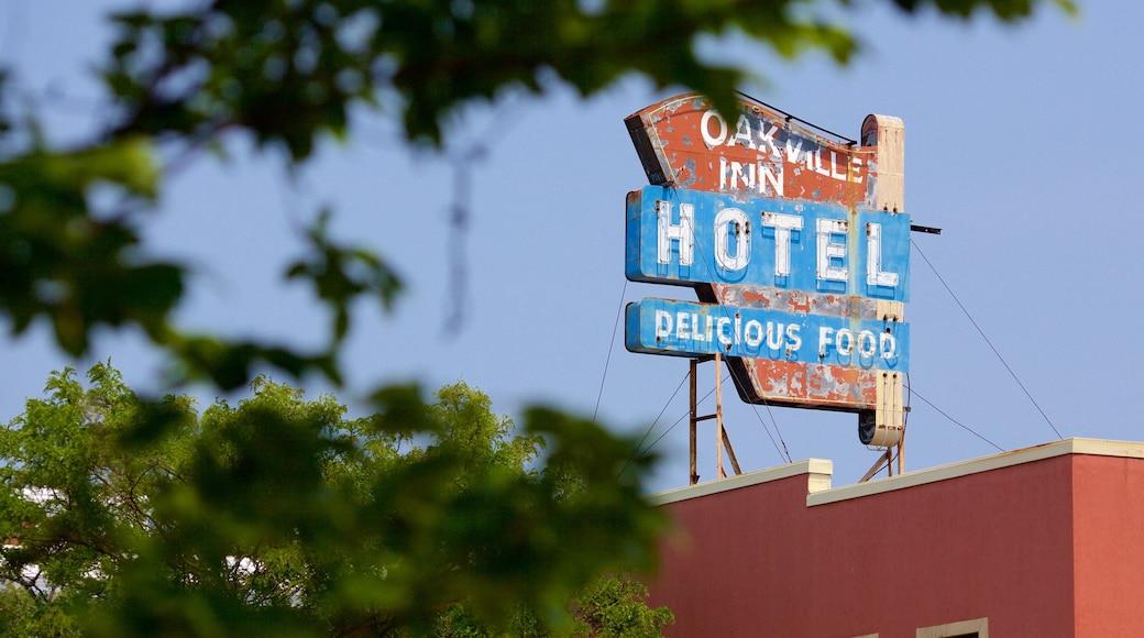 Oakville featuring signage