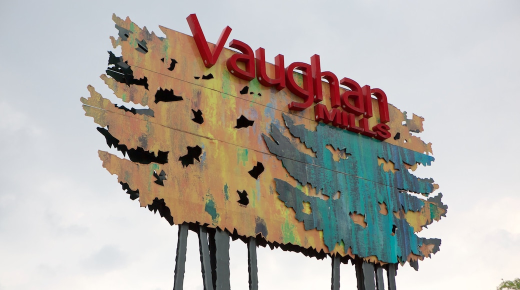 Vaughan Mills Mall showing signage