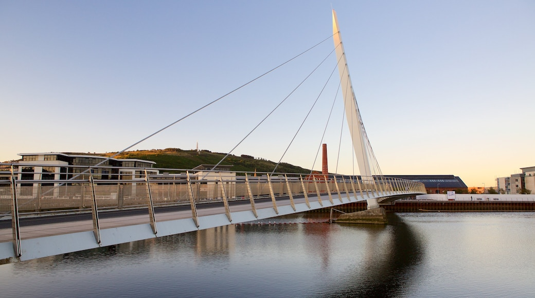 Swansea showing a river or creek and a bridge