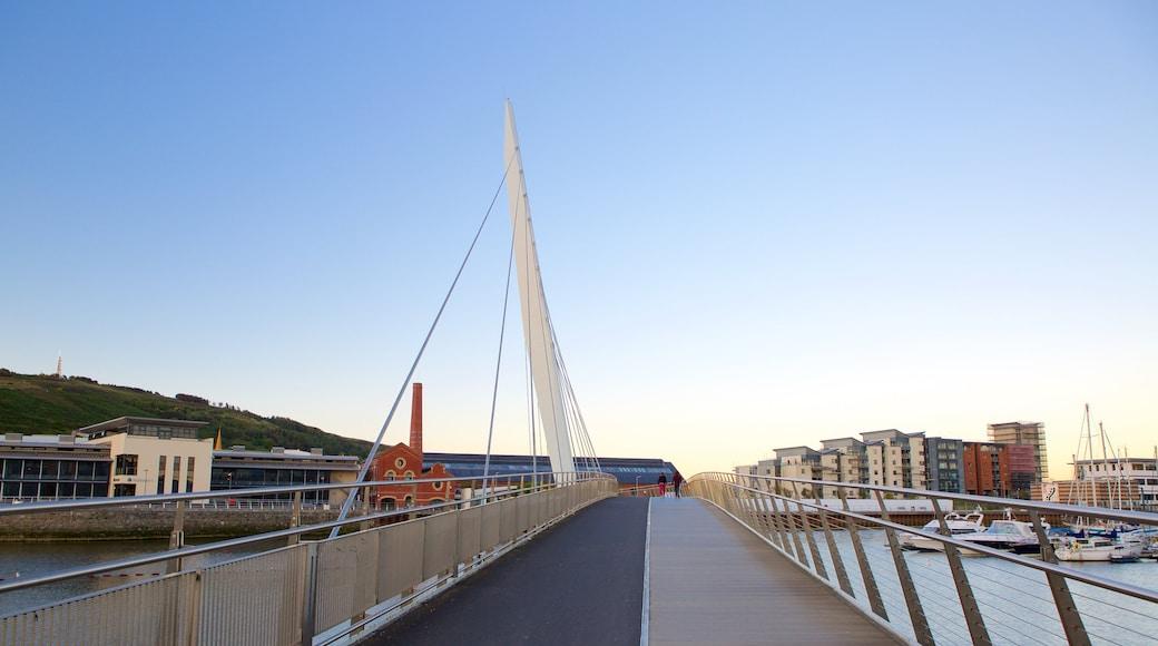 Swansea featuring a bridge