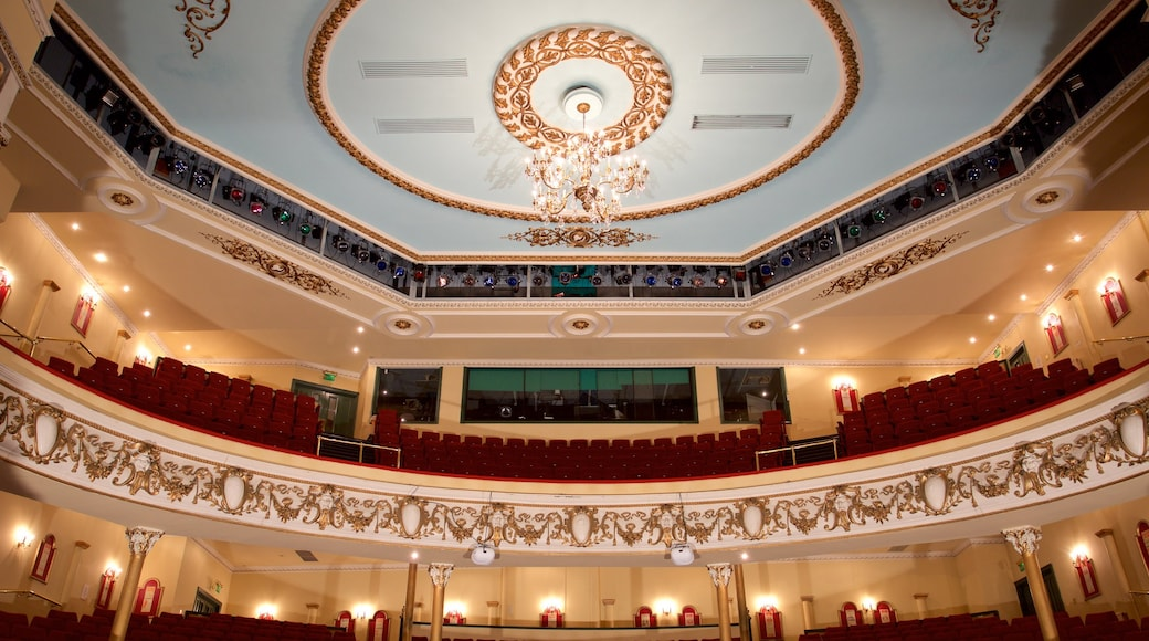 Grand Theatre featuring theater scenes and interior views