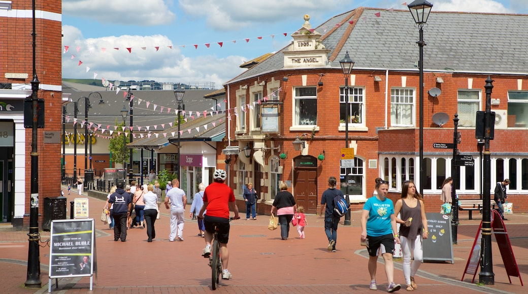 Neath featuring street scenes as well as a large group of people