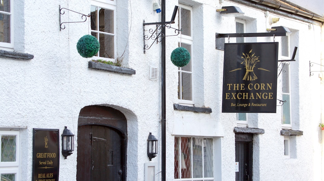 Crickhowell which includes signage and street scenes