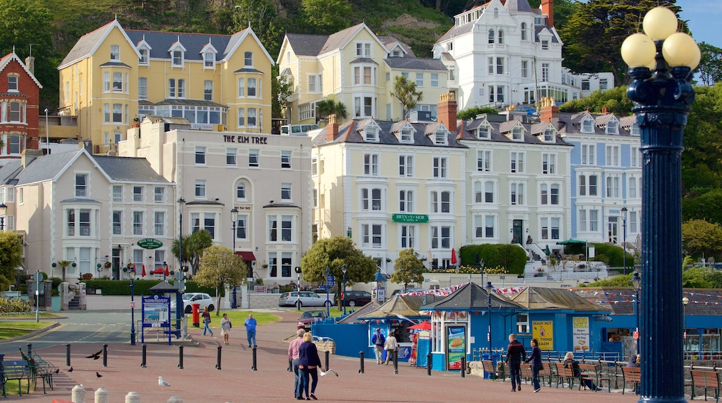 Llandudno which includes a square or plaza and a small town or village