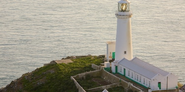 South Stack Lighthouse showing general coastal views and a lighthouse