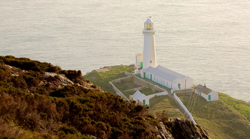 South Stack Lighthouse which includes general coastal views and a lighthouse