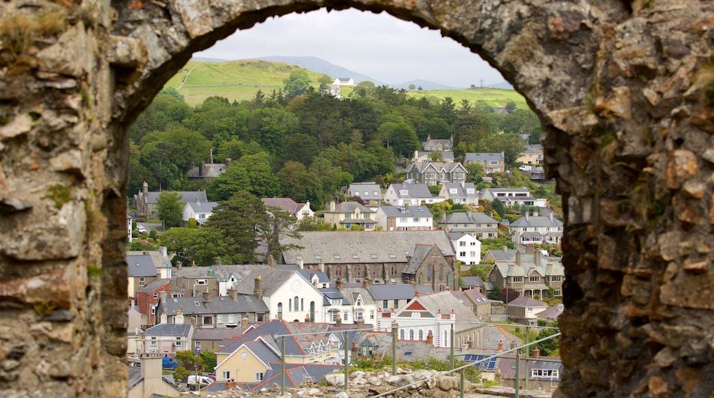Criccieth Castle which includes a small town or village