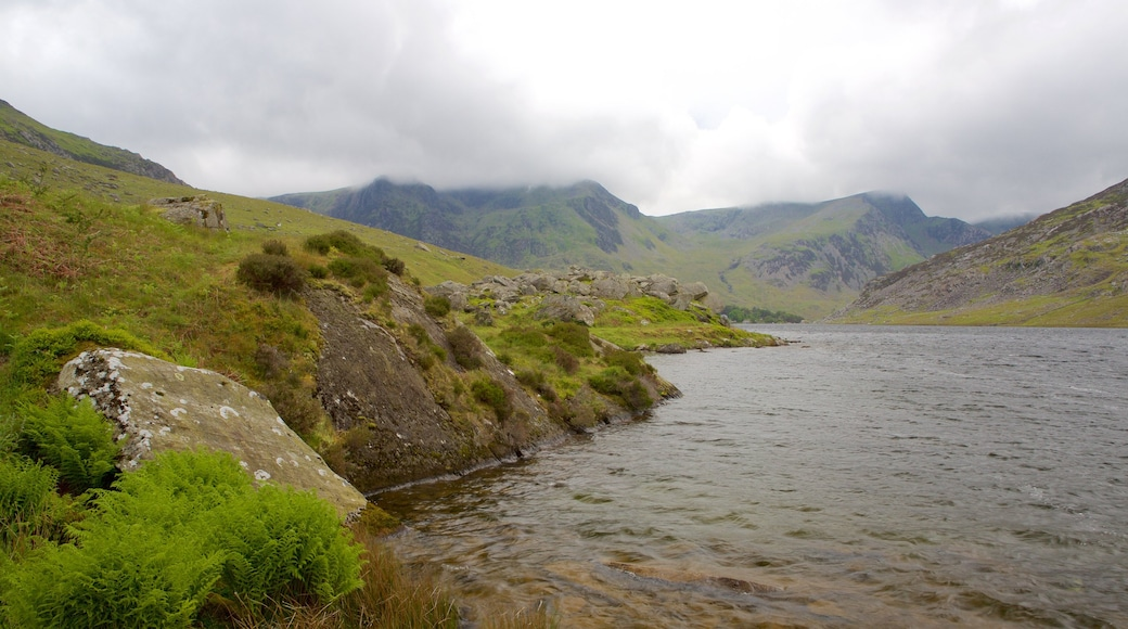 Snowdonia National Park featuring mist or fog, a river or creek and tranquil scenes