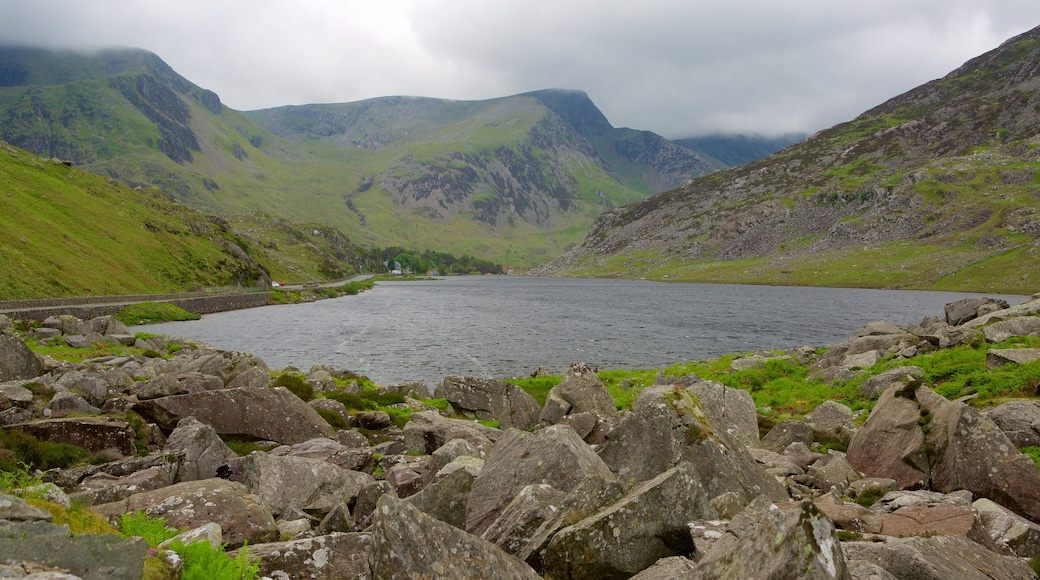 Snowdonia National Park featuring a river or creek and mountains