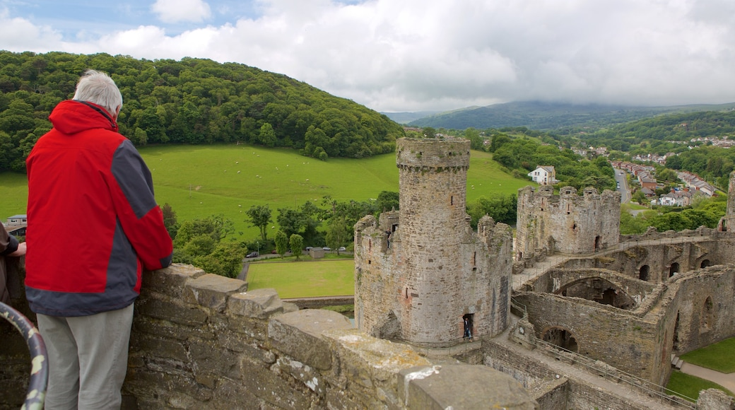 Conwy Castle featuring château or palace, heritage elements and views