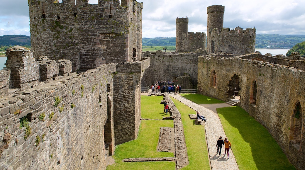 Conwy Castle which includes château or palace, a ruin and heritage elements