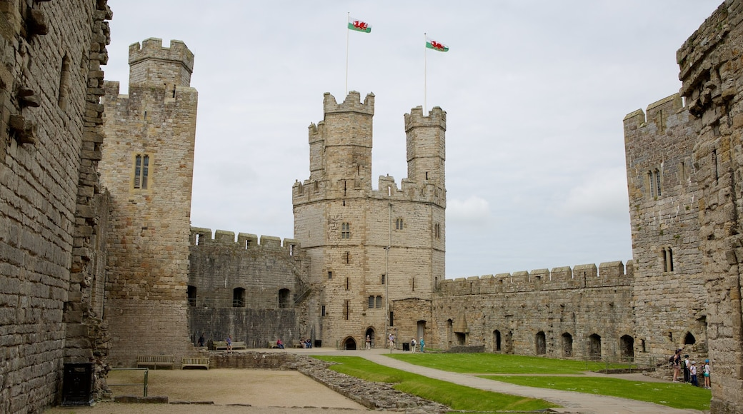 Caernarfon Castle featuring heritage elements and château or palace