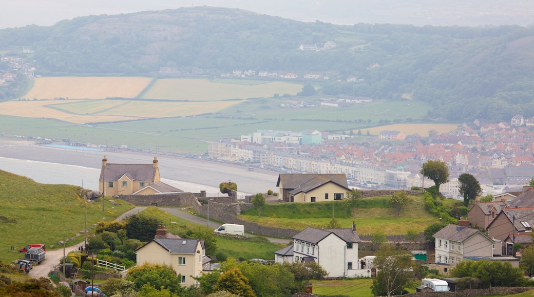 Great Orme which includes a small town or village and farmland
