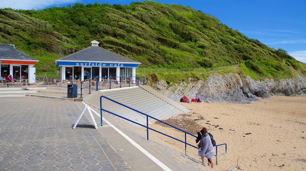 Caswell Bay Beach which includes a sandy beach