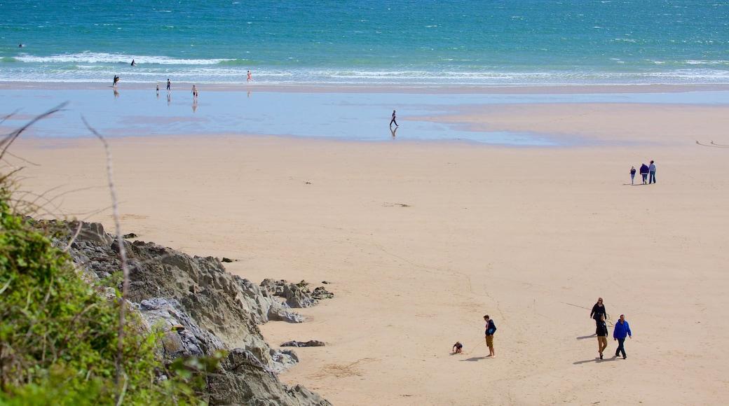 Caswell Bay Beach featuring a sandy beach