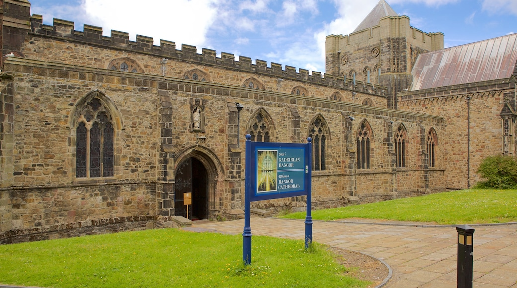 Bangor which includes religious elements, a church or cathedral and heritage elements