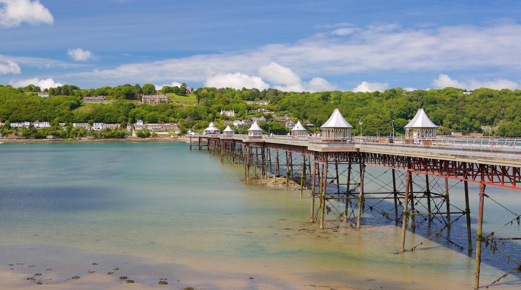Bangor featuring a beach, a river or creek and a bridge