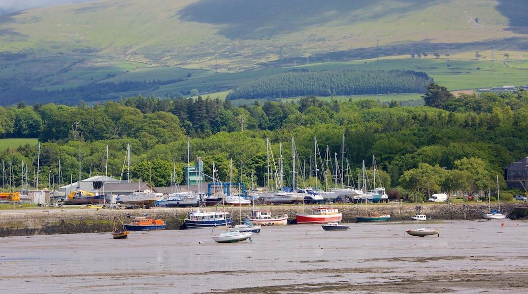 Bangor showing a beach and sailing