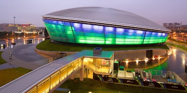 The SSE Hydro featuring mist or fog and night scenes