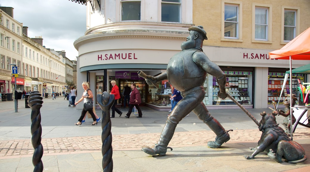 Desperate Dan Statue showing street scenes and outdoor art