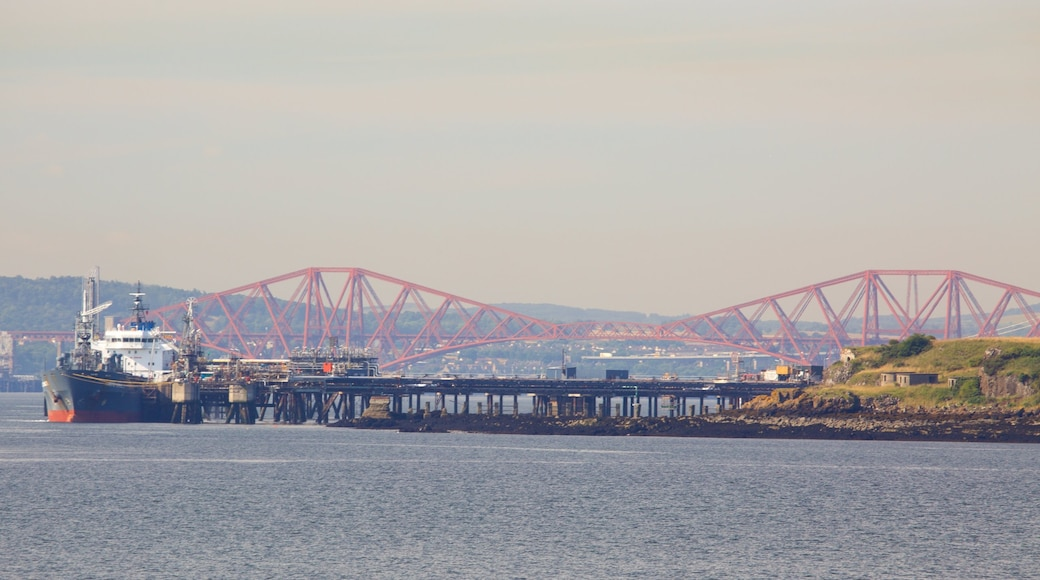 Aberdour showing boating and general coastal views