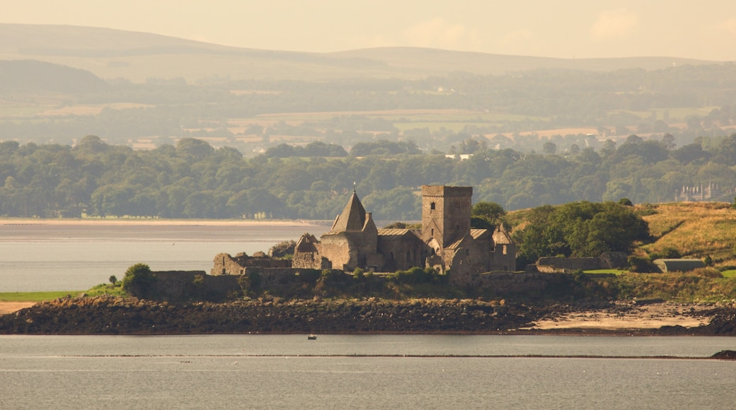 Incholm Abbey which includes a castle and general coastal views
