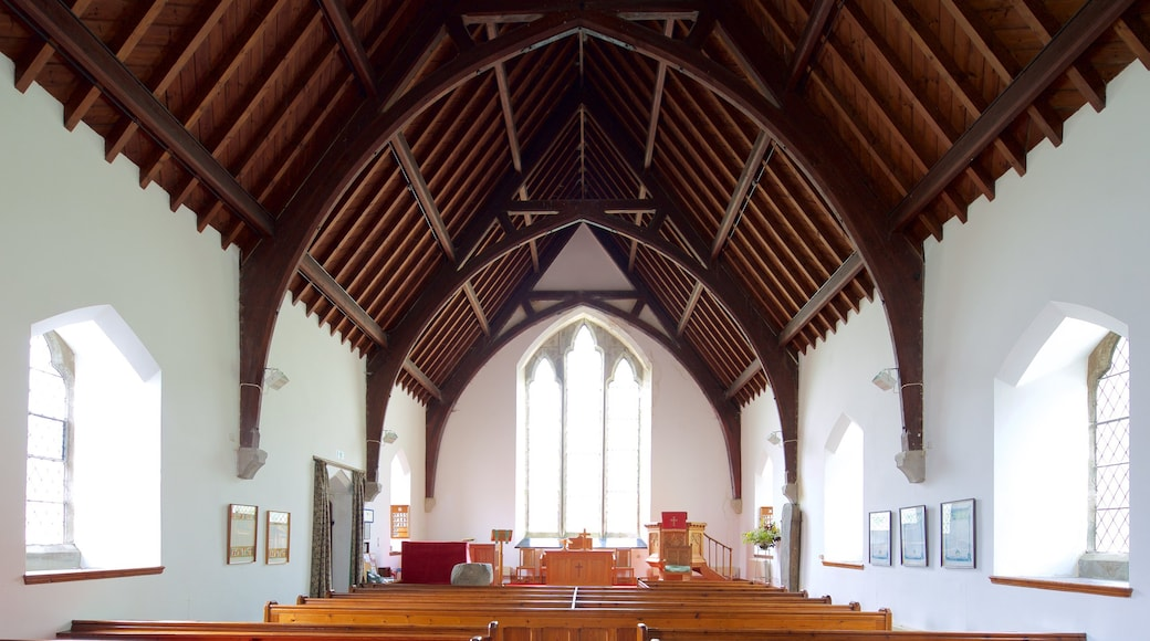Balquhidder Church featuring interior views, a church or cathedral and religious elements