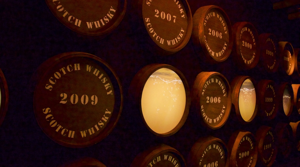 Scotch Whisky Heritage Centre featuring interior views