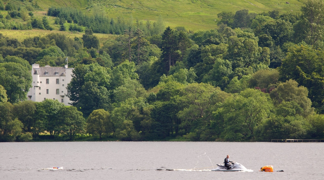 Loch Earn featuring a lake or waterhole and jet skiing