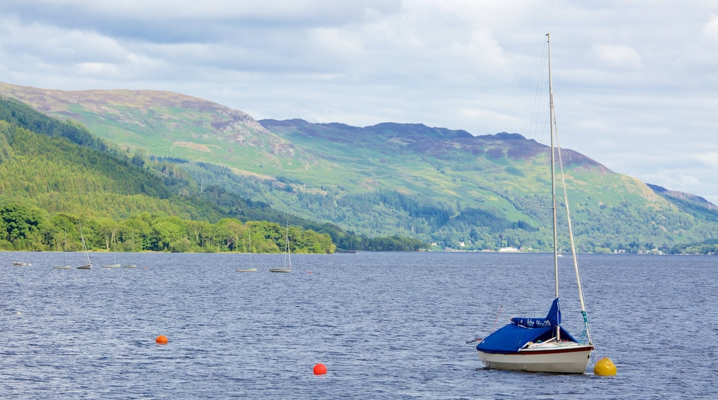 Loch Earn featuring a lake or waterhole, sailing and boating