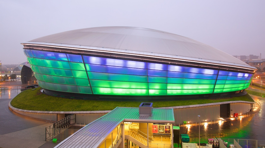 The SSE Hydro which includes mist or fog