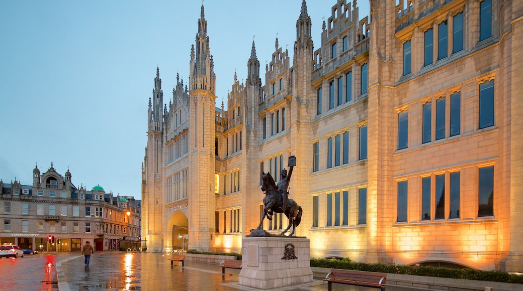Marischal Museum featuring heritage elements and heritage architecture
