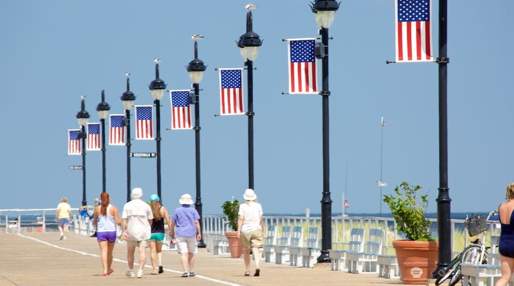 Ocean City which includes street scenes as well as a large group of people