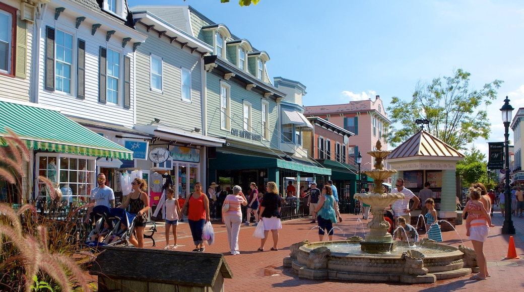 Cape May - Wildwood featuring street scenes, a fountain and a square or plaza