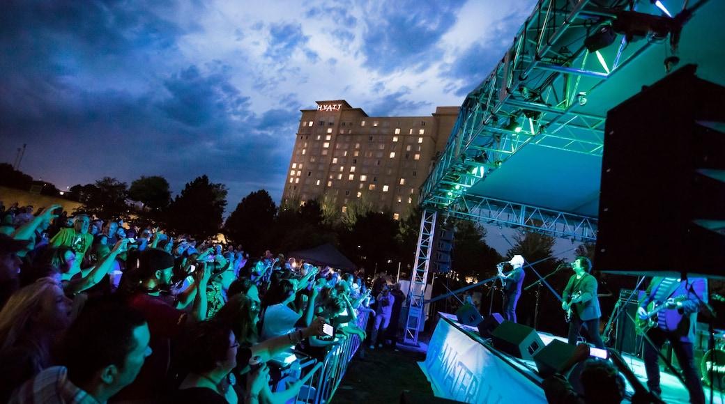 Wichita showing night scenes, music and performance art
