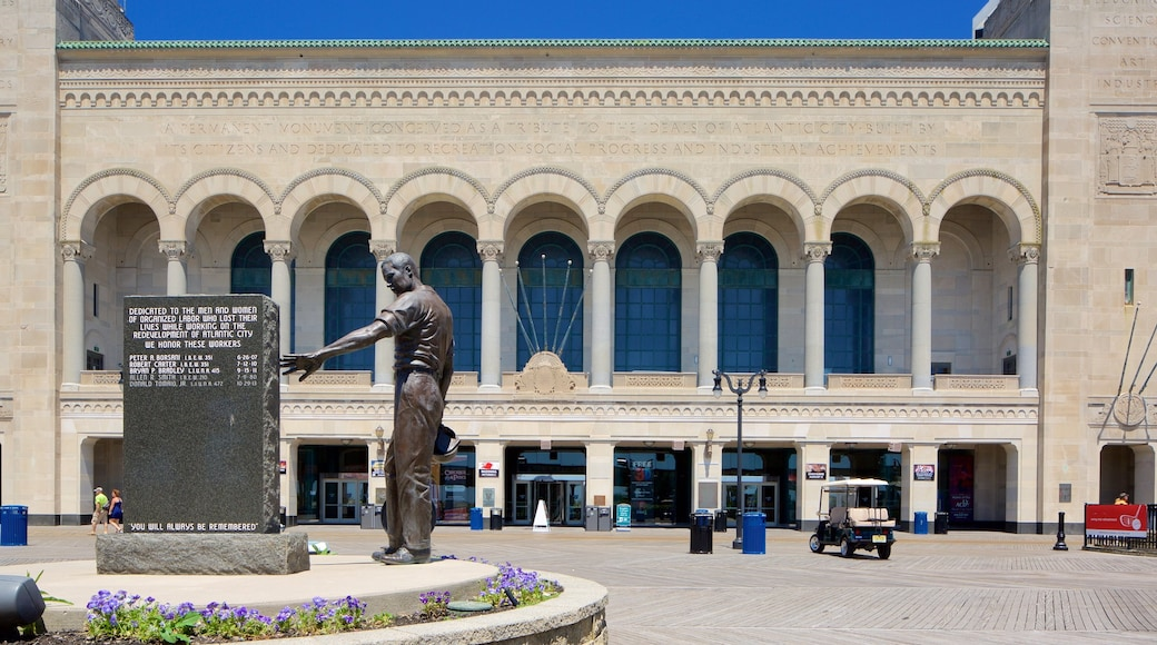 Boardwalk Hall featuring heritage architecture, a statue or sculpture and a monument
