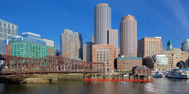Seaport District featuring a city, a high-rise building and a river or creek