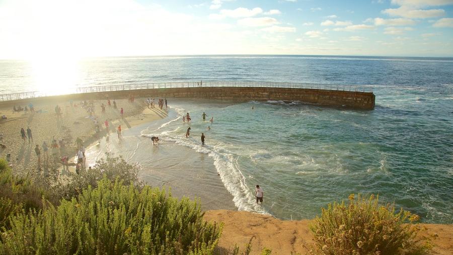 La Jolla showing general coastal views, swimming and a sandy beach