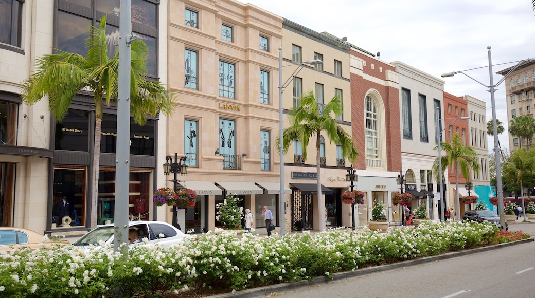 Rodeo Drive showing fashion, flowers and street scenes