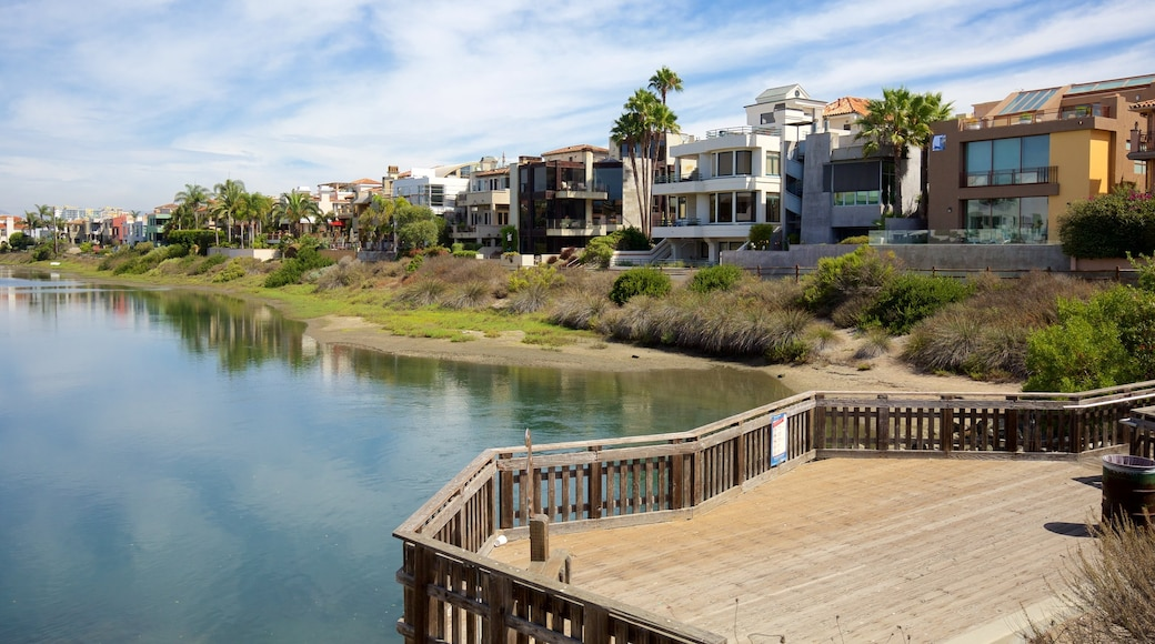 Marina del Rey featuring a coastal town, a river or creek and views