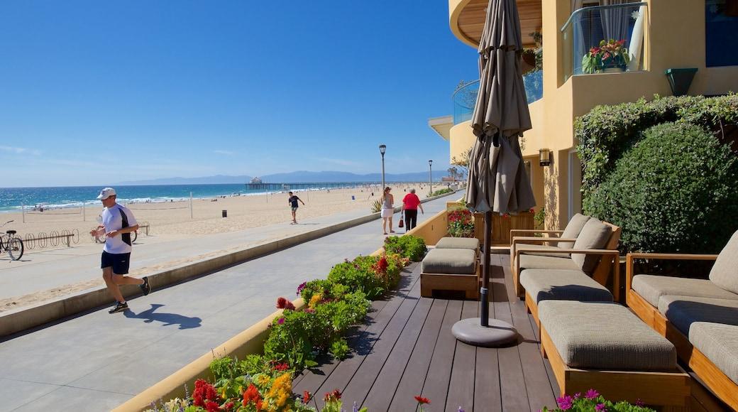 Manhattan Beach featuring a beach, a coastal town and general coastal views