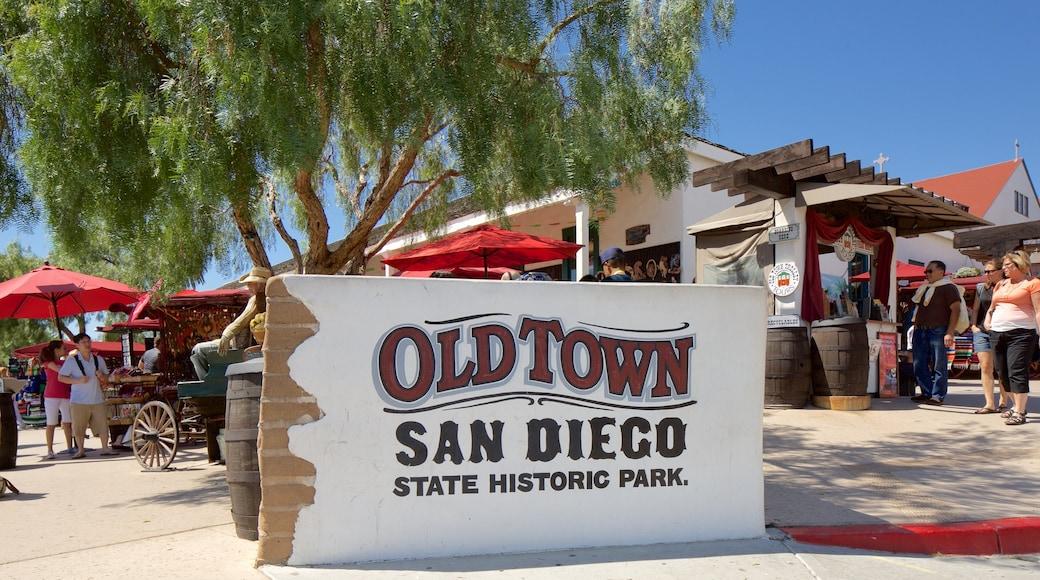 Old Town San Diego State Park ซึ่งรวมถึง ป้าย