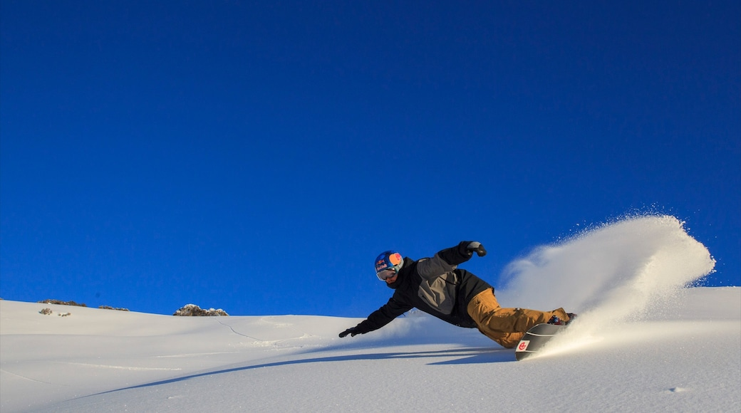 Hotham Heights which includes snowboarding and snow
