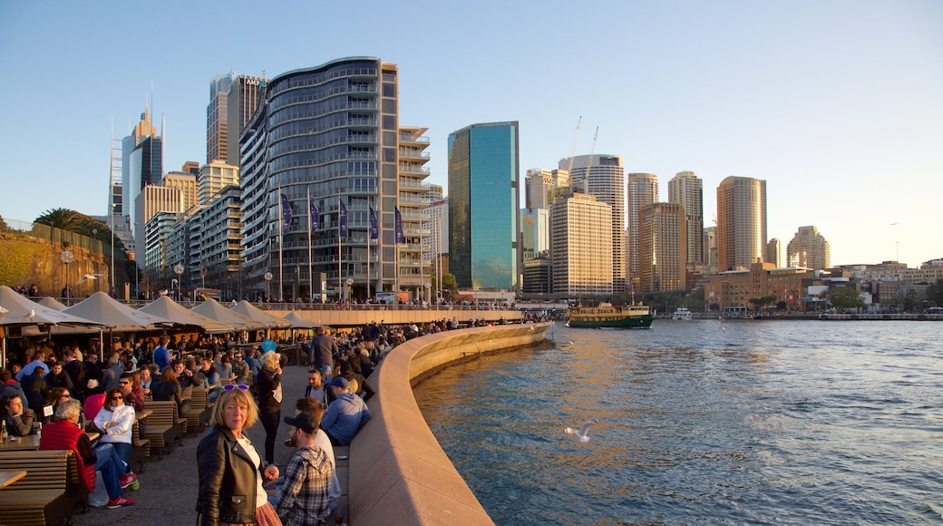 Circular Quay featuring general coastal views, modern architecture and a city