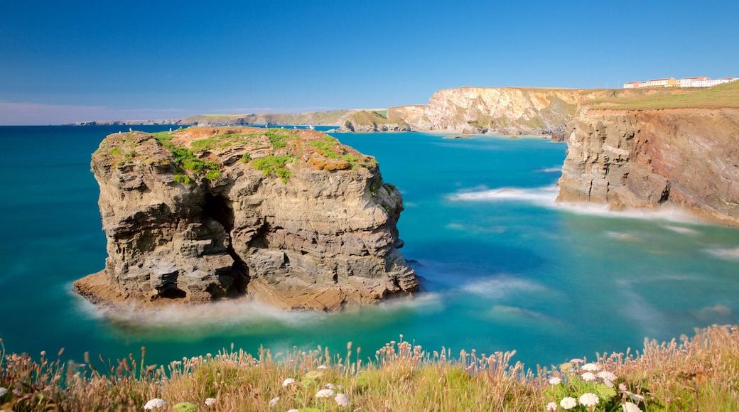 Plage de Porth qui includes panoramas et vues littorales