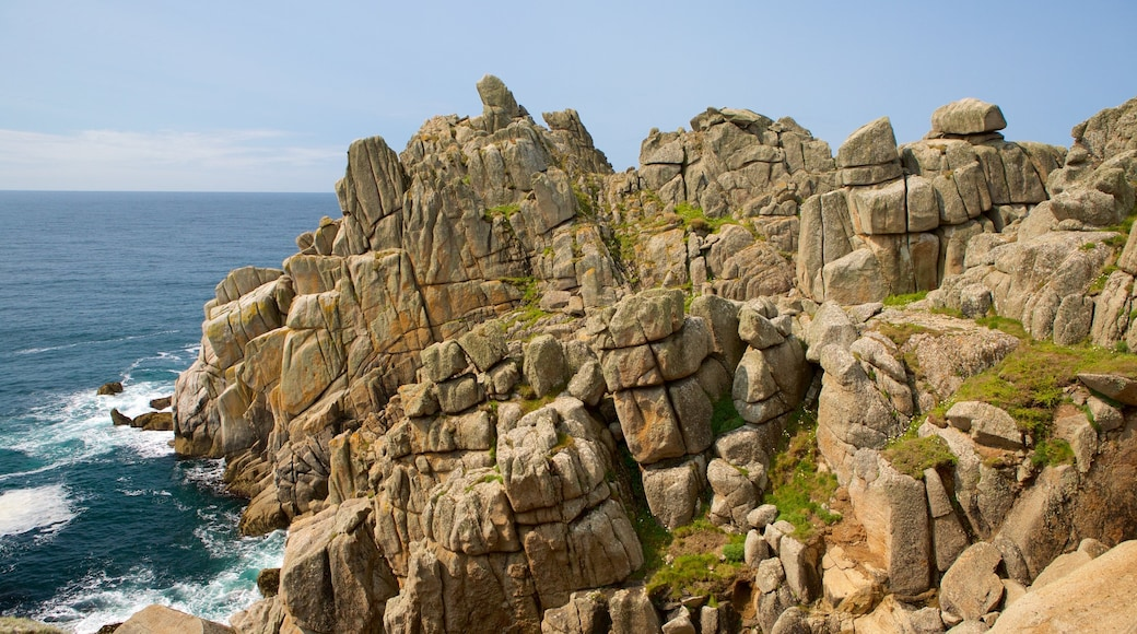 Logan\'s Rock which includes general coastal views and rugged coastline